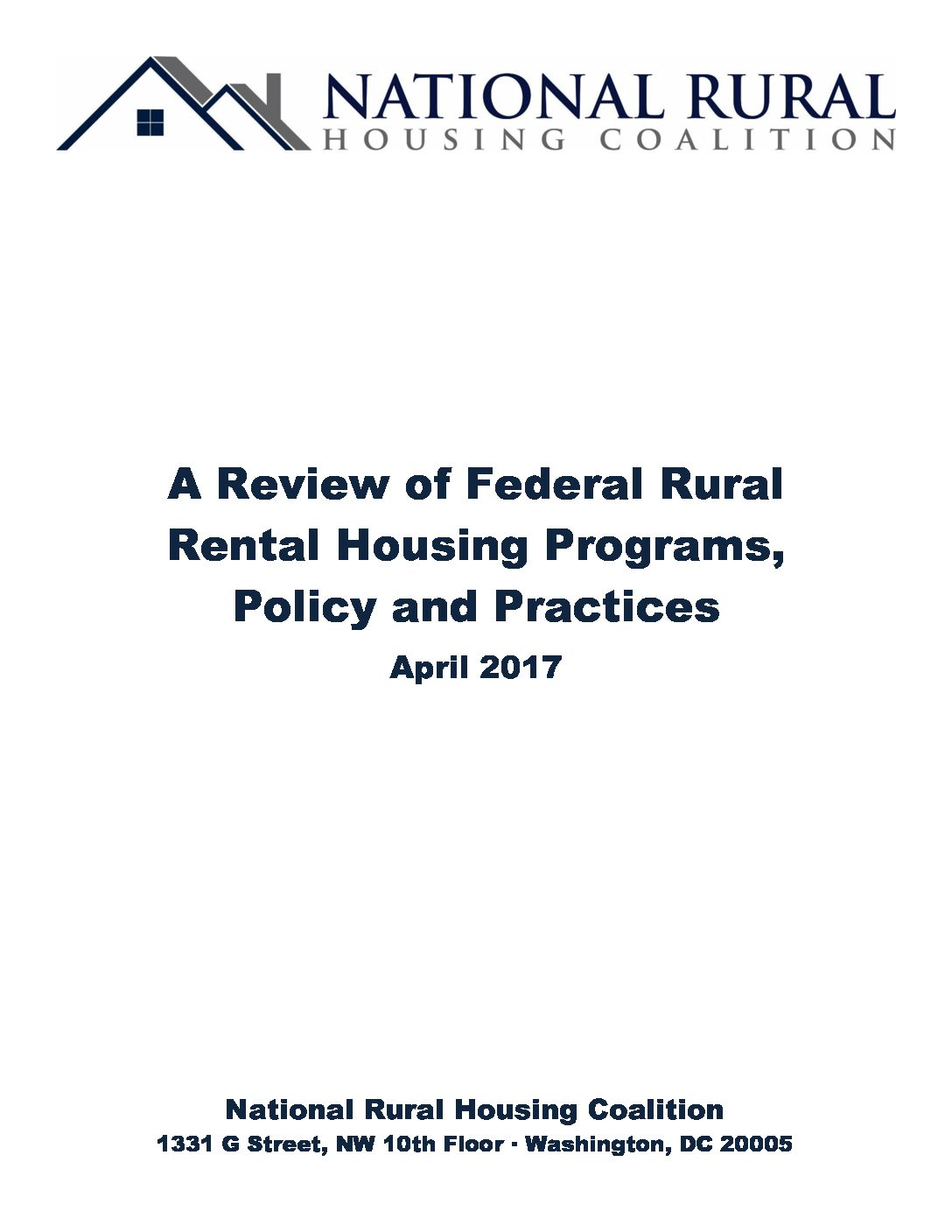 A Review of Federal Rural Rental Housing Programs, Policy, and Practices