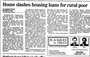 House slashes housing loans for rural poor