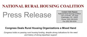 Congress Deals Rural Housing Organizations a Mixed Hand